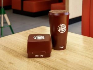 Burger King developed reusable containers for Whoppers and drinks and will offer them to some customers next year