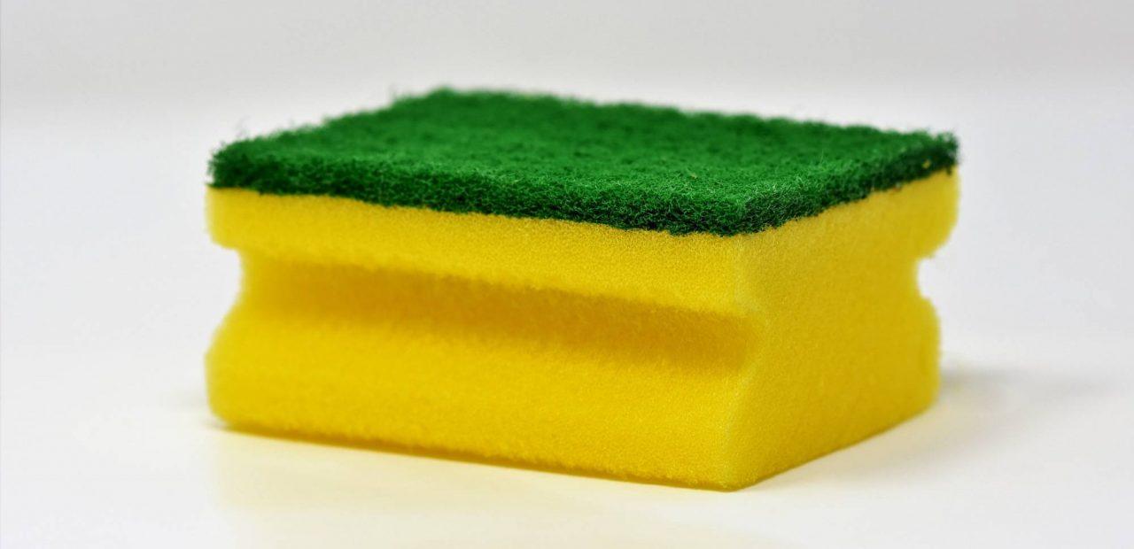 limpiar esponja cocina