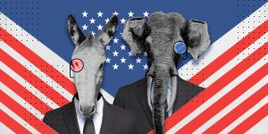 El elefante y el burro, las mascotas de los partidos Republicano y Demócrata que también son íconos nacionales