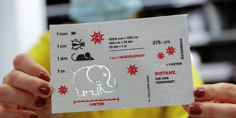 Austria inmortaliza la pandemia de Covid-19 con una estampilla hecha de papel higiénico