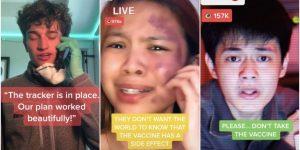 Los TikTokers fingen tener efectos secundarios por las vacunas de Covid-19, lo que podría fomentar sentimientos anti-vacunas