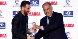 """Javier Tebas está """"listo"""" para que Lionel Messi se vaya de la Liga —y no cree que su salida suponga una gran diferencia para el futbol español"""