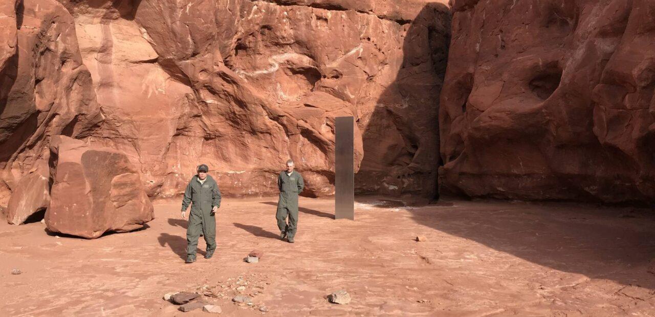monolito de metal Utah