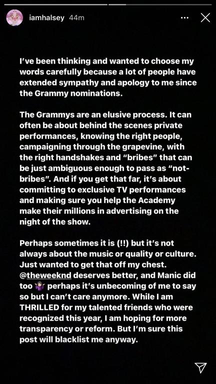 Halsey Grammy