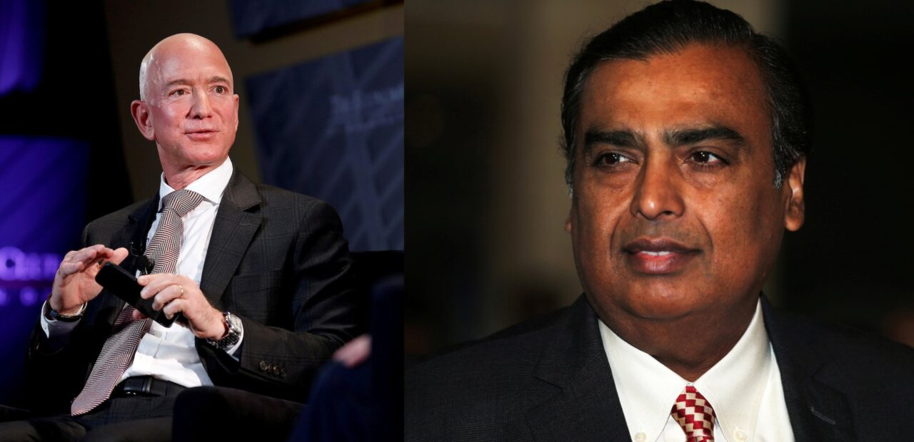 Jeff Bezoz y Mukesh Ambani | Business Insider Mexico