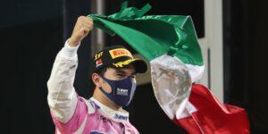 """Sergio """"Checo"""" Pérez gana el GP de Sakhir, su primera victoria en la F1"""