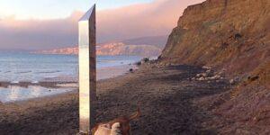 Un quinto monolito misterioso apareció en una playa en la Isla de Wight en Reino Unido