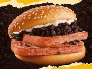 McDonald's is selling a bizarre limited-edition $2 burger with Spam, crushed Oreo-style cookies, and mayonnaise in China