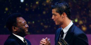 Pelé se niega a aceptar que Cristiano Ronaldo y Lionel Messi han marcado más goles que él