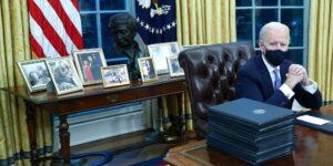 11 significados ocultos detrás de la decoración en la Oficina Oval del presidente Joe Biden