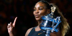 Serena Williams cree que le robaron uno de sus trofeos de Grand Slam —pero no está segura porque tiene muchos
