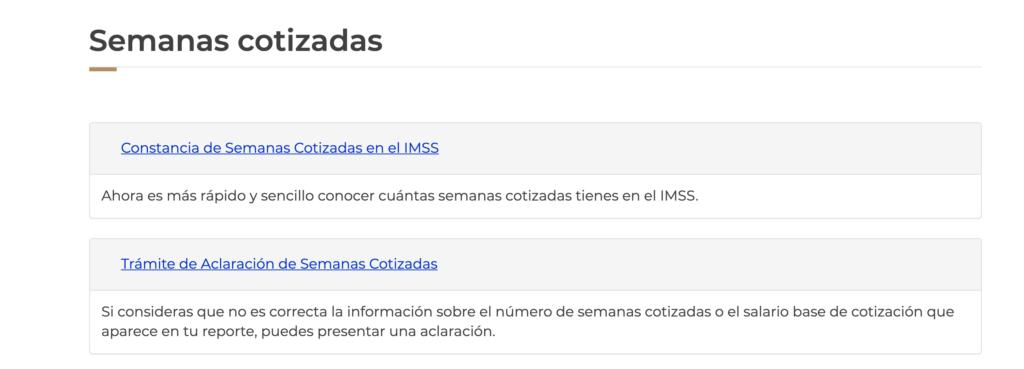 Semanas de cotizacion ante el IMSS