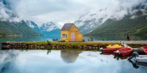 Una casa pequeña de 22,000 dólares se puede desplegar desde una caja y construirse en 3 horas