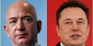 Una fotografía poco conocida muestra a Elon Musk y Jeff Bezos comiendo juntos hace 17 años, antes de que estallara su rivalidad