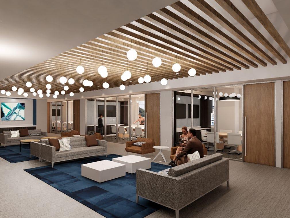Una representación de los diseños de TIAA para las renovaciones de sus oficinas. TIAA