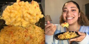 La receta de Rihanna para preparar macarrones con queso tiene cátsup, mostaza y pimiento —y es sorprendentemente sabrosa