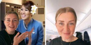Una auxiliar de vuelo famosa en TikTok revela la verdadera razón por la que el personal de vuelo te saluda cuando caminas en un avión