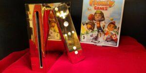Este Nintendo Wii bañado en oro para la reina Isabel II se vende en eBay, con un precio inicial de 300,000 dólares