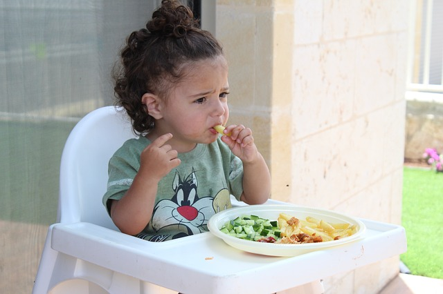 hijos verduras alimentación