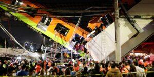 Se desploma un puente en la estación Olivos de la Línea 12 del Metro de la Ciudad de México