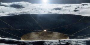 La NASA tiene planes para construir un enorme telescopio similar a Arecibo dentro de un cráter en la Luna