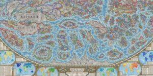 Un diseñador crea el 'mapa de internet' con las 3,000 páginas web más importantes y populares reconvertidas en países