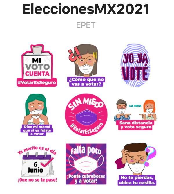 stickers elecciones 6 de junio