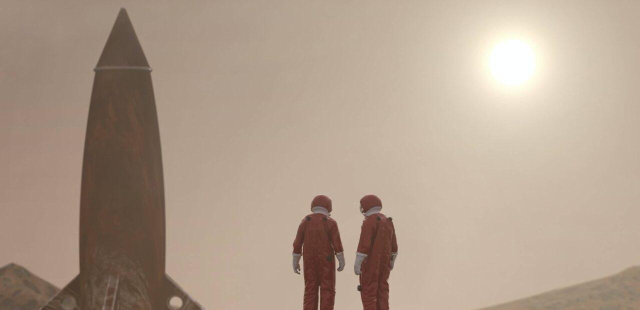 humanos Marte