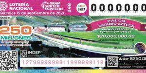 ¡Habrá otro sorteo! Esta vez la Lotería Nacional dará 22 premios, incluido un palco en el Estadio Azteca