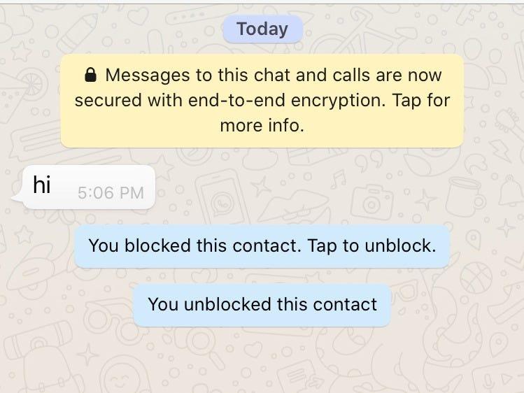 bloquear persona Whatsapp