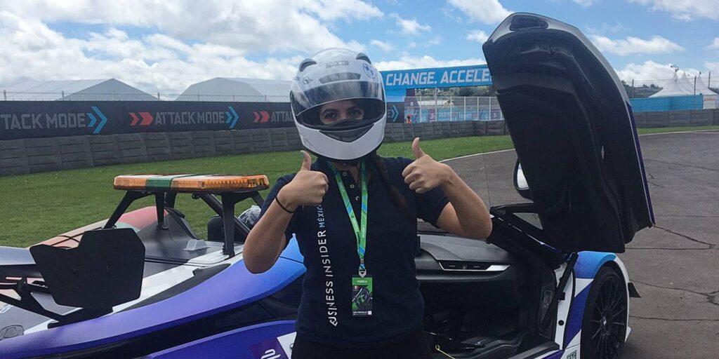 Subí y di una vuelta rápida en el Safety Car de la Fórmula E —aunque bajé temblando del auto eléctrico, no puedo esperar a volver a hacerlo