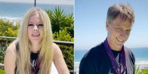 """Avril Lavigne debutó en TikTok recreando el video musical de """"Sk8er Boi"""" junto a Tony Hawk"""