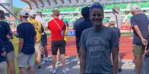 Una heptatleta embarazada compitió en pruebas olímpicas para demostrar de lo que son capaces las mujeres