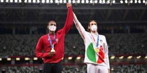 """""""¿Podemos tener dos oros?"""": Mutaz Essa Barshim y Gianmarco Tamberi comparten la victoria en salto de altura de los Juegos Olímpicos de Tokio 2020"""