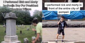 """Varios creadores de TikTok están cantando """"Rick & Morty"""" de Soulja Boy en las lápidas de personas famosas —y esta es la razón"""