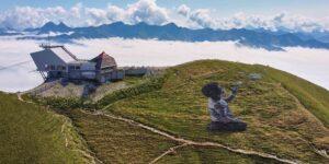 📷 GALERÍA: Graffiti del artista Saype levanta el ánimo hasta las nubes