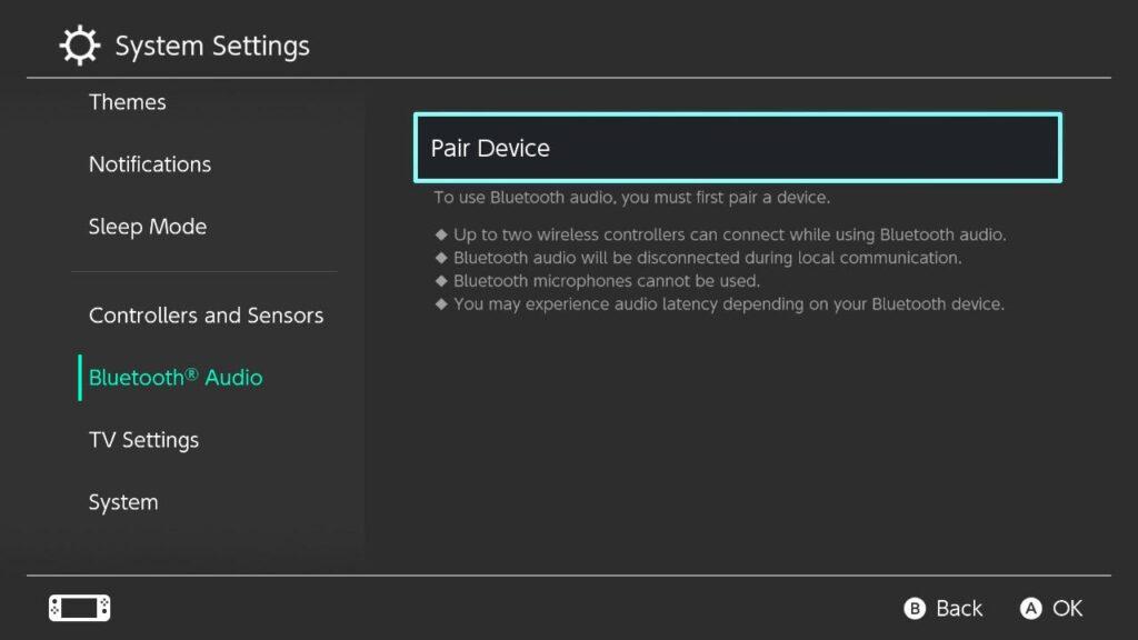 Nintendo Switch audífonos Bluetooth