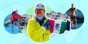 """Luis Álvarez: el """"Ironman"""" mexicano que tiene un récord mundial, ha escalado las 7 montañas más altas del mundo y es guía de atletas invidentes"""
