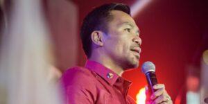 Manny Pacquiao se lanza como candidato para la presidencia de Filipinas
