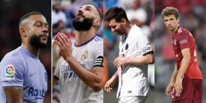 El PSG, Bayern Múnich, Real Madrid y FC Barcelona perdieron en un fin de semana lleno de sorpresas en el futbol europeo