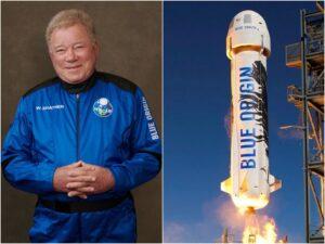 William Shatner revela que Blue Origin no permitirá que sus astronautas vendan nada que lleven al espacio