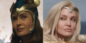"""Salma Hayek dice que Angelina Jolie, su coprotagonista en """"Eternals, se convirtió en su """"hermana del alma"""""""