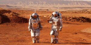 6 astronautas analógicos acampan en el desierto israelí durante un mes para simular la vida en Marte