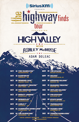 Adam Doleac Joins SiriusXM's The Highway Finds Tour with High Valley, Ashley McBryde