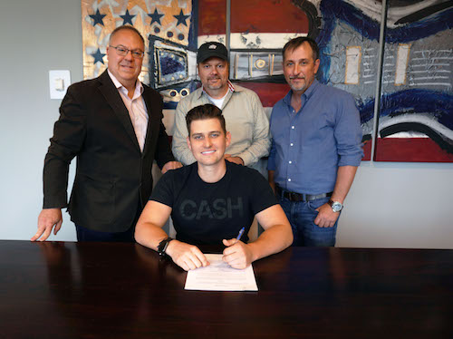 287 Entertainment Signs Singer/Songwriter Austin Burke