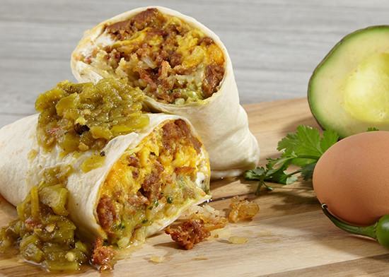 Sweet & Spicy Breakfast Burrito