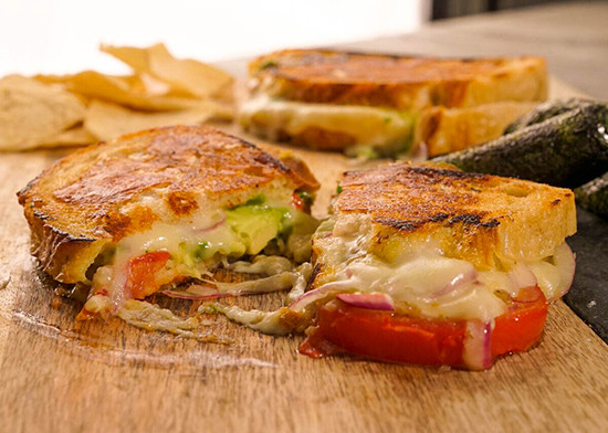 Green Chile Gourmet Grilled Cheese