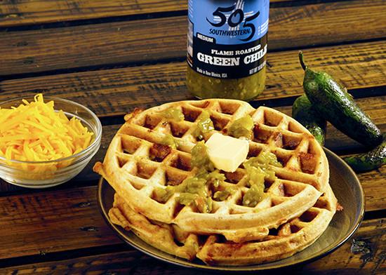 Chorizo and Green Chile Waffle