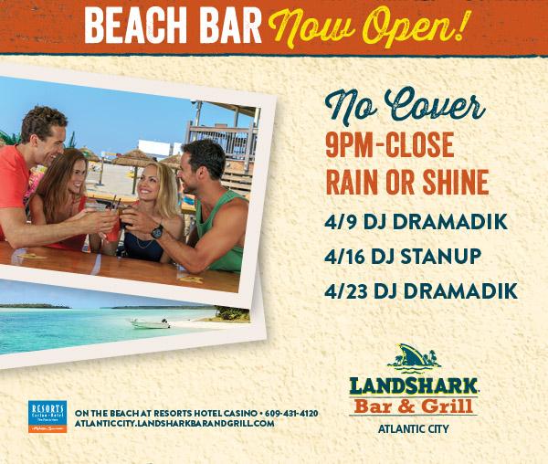 Beach Bar Now Open