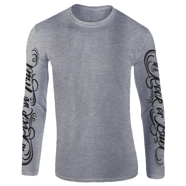 Tattoo Script Rock Or Bust Long Sleeve T-Shirt